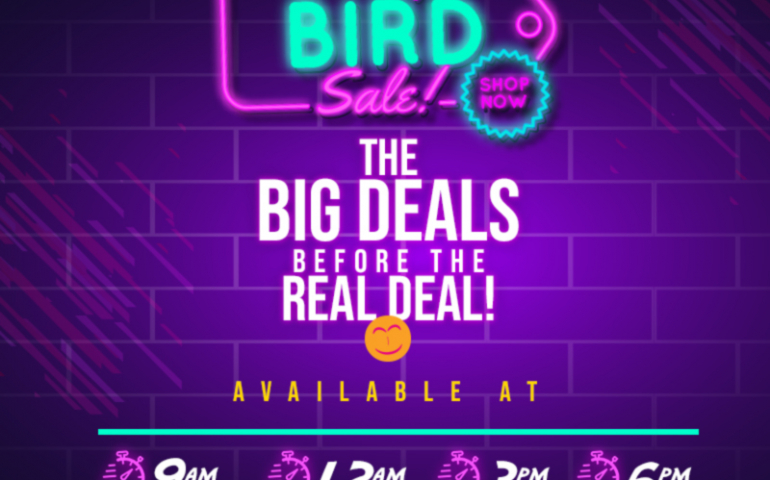 EARLY BIRD SALES BEST SELLER