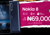 KONGA-BULOUS!!!! … Nokia 8 is selling for N69,000 …only at retail stores!