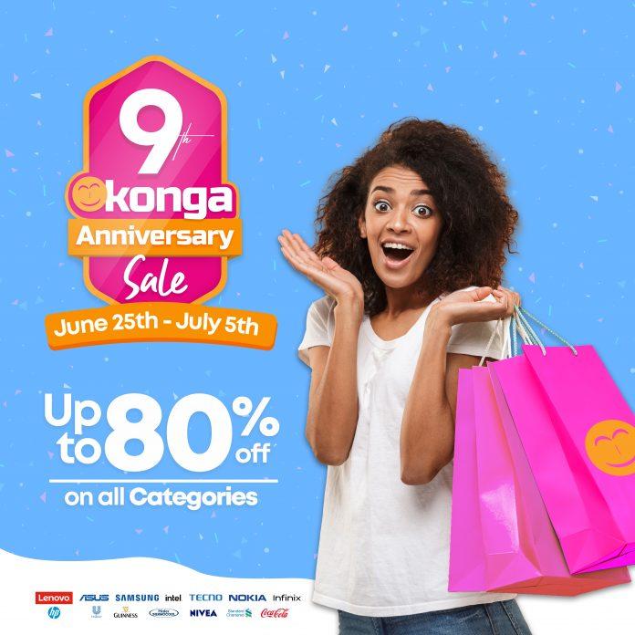 Konga's 9th Anniversary Sale